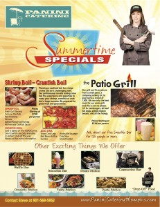 Summertime Catering Specials includes FREE Smoothie Bar.
